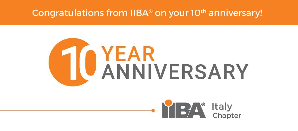 Celebrating 10 Year Anniversary of IIBA Italy Chapter!