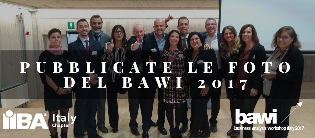 Pubblicate le foto BAWI 2017 sul nostro Flickr